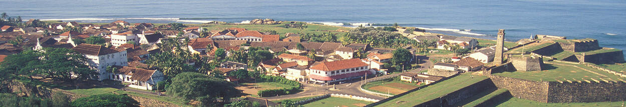 Luchtfoto van fort Galle in Sri Lanka