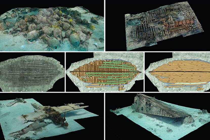 Examples of photogrammetry recordings under water